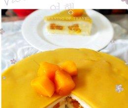 #以美食的名义说爱她#,低糖低脂芒果慕斯蛋糕的做法