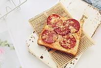 萨拉米肠吐司披萨的做法