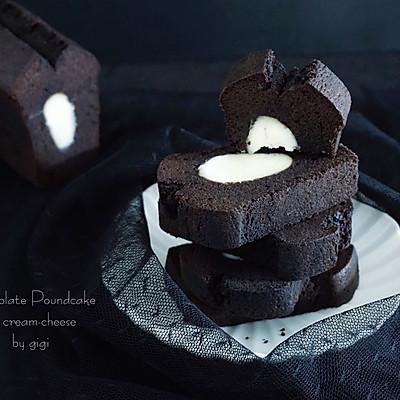 可可奶酪夹心磅蛋糕