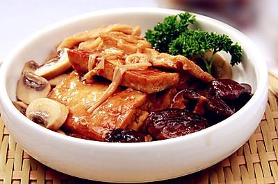 三菇烩豆腐