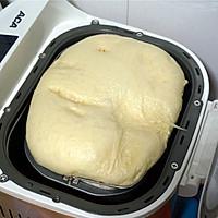 超松软的杏仁片牛奶面包#松下烘焙魔法世界#的做法图解3