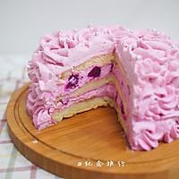 粉紫色的恋人--红心火龙果奶油蛋糕的做法图解12