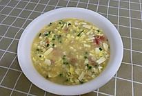 番茄鸡蛋豆腐羹的做法