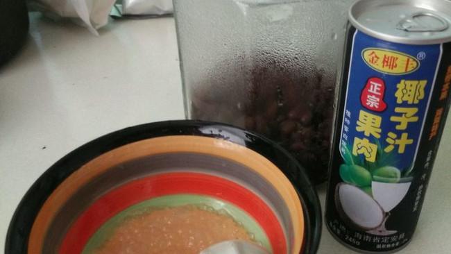 密豆椰奶西米露的做法