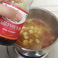 暖心暖胃【茄汁金针菇豆腐汤】的做法图解7