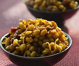 辣子焖黄豆的做法