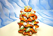 巧克力甜甜圈圣诞树的做法