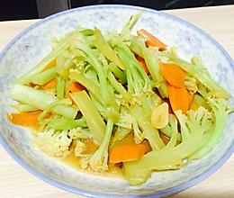 花菜炒胡萝卜的做法