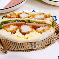 #尽享安心亲子食刻#盐酥鸡滑蛋三明治的做法图解11