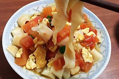 营养一百分的番茄鸡蛋拌刀削面