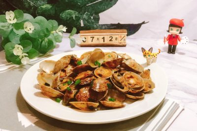 超级下饭的蚝油炒花甲