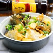 砂锅三文鱼头#金龙鱼外婆乡小榨菜籽油 最强家乡菜#