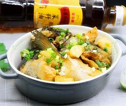 砂锅三文鱼头#金龙鱼外婆乡小榨菜籽油 最强家乡菜#的做法