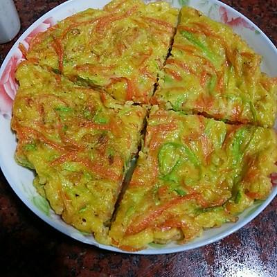 胡萝卜西葫芦蛋饼