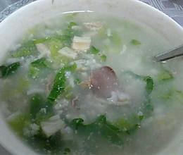 瑶柱鸭肾瘦肉青菜粥的做法