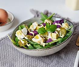 俄式酸黄瓜紫薯鸡蛋沙拉#精品菜谱挑战赛#的做法