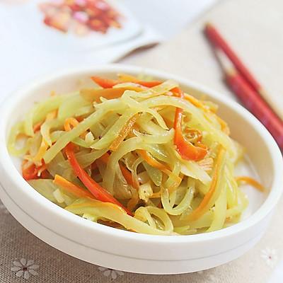 清炒莴笋丝-冬季暖身