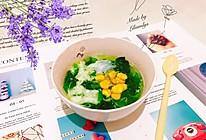 #做道懒人菜,轻松享假期#蛋清玉米菠菜汤的做法