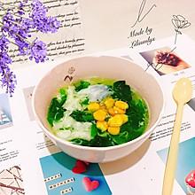 #做道懒人菜,轻松享假期#蛋清玉米菠菜汤