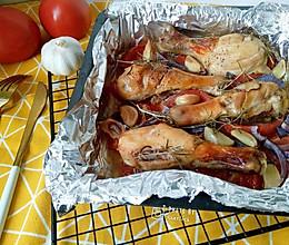 番茄洋葱迷迭香烤鸡腿#博世家电乐享健康#的做法