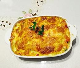 黄金芝士焗饭(懒人快手菜)的做法
