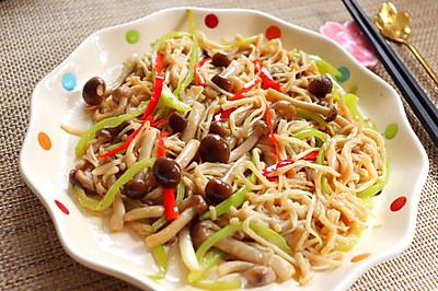 金针菇炒蟹味菇
