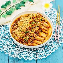 蒜蓉剁椒蒸金针菇
