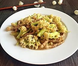 有机菜花炒肉丝的做法