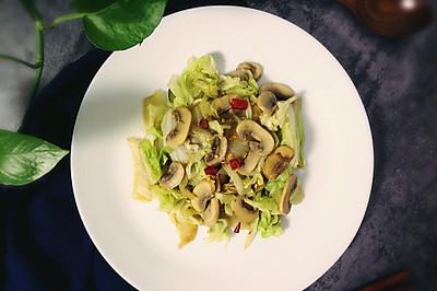 口蘑炒白菜