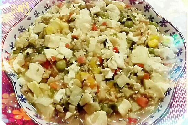 时蔬咖喱豆腐的做法