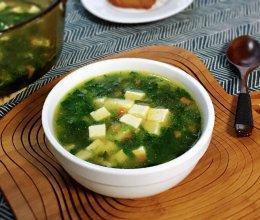菠菜豆腐汤的做法
