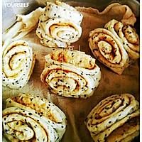 【麻香卷】——黑芝麻的另类吃法,芝麻酱花生酱做成卷子浓浓香的做法图解8