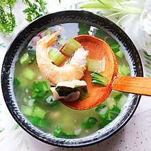 #秋天怎么吃#青菜口蘑虾干汤