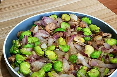 洋葱蚕豆炒肉
