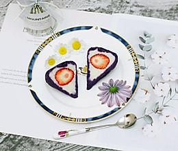 健康餐–心太软(紫薯山药草莓)的做法