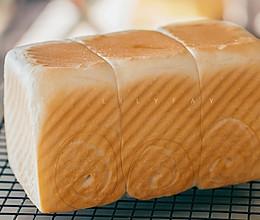 波兰种椰浆白吐司(无蛋,不用面包粉,一次发酵)的做法