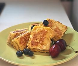 减脂低油无糖蓝莓西多士的做法
