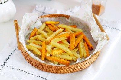 空气炸椒盐双色薯条