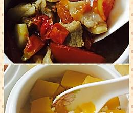 怀孕5周菜谱 南瓜饭和西红柿牛腩浓汤的做法