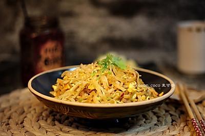 #甜粽VS咸粽,你是哪一党?#熏肉炒饼