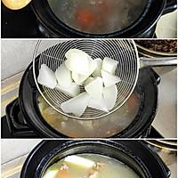 清炖羊排,老爸的拿手菜,汤鲜味浓,羊肉软烂,连萝卜都非常好吃的做法图解6