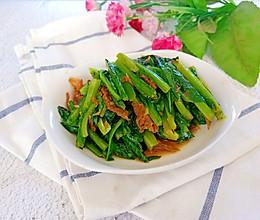 豆豉鲮鱼油麦菜。的做法