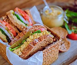 鹰嘴豆素食三明治的做法
