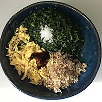 韭菜鸡蛋豆腐皮包的做法图解5