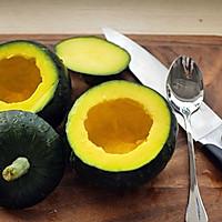 红豆糯糯南瓜盅#发现粗食之美#的做法图解3