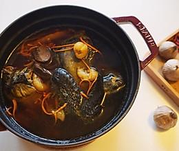 香浓美味又简单——虫草花淮山黑蒜乌鸡汤的做法