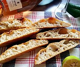 36小时天然菌种Ciabatta夏巴达(拖鞋)面包的做法