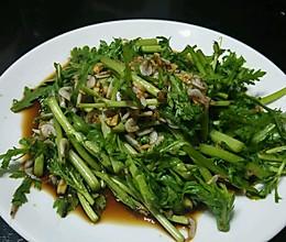 凉拌茼蒿菜的做法
