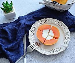 木瓜香草奶冻,冰冰凉的小甜点~的做法