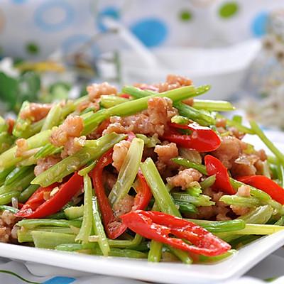 芹菜炒肉末